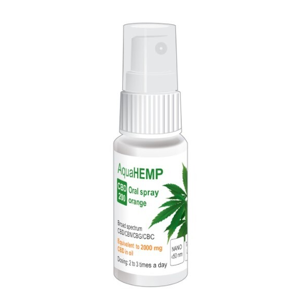 AquaHEMP AquaHEMP spray ORANGE broad spectrum CBD 200 - 25 ml
