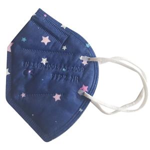 Balerina Nano respirátor FFP2 - modrý - hvězdičky