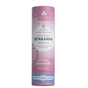 BEN & ANNA Tuhý deodorant Sensitive BIO 60 g - Třešňový květ