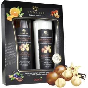 Body tip Dárková kazeta Makadamový ořech s vanilkou - sprch. gel 200 ml, těl. mléko 200 ml
