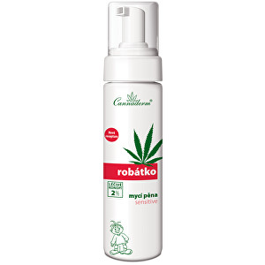 Cannaderm Robátko mycí pěna Sensitive 200 ml
