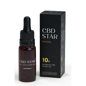 "CBD STAR CBD ""NATURAL"" OLEJ – 10% CBD 10 ml"
