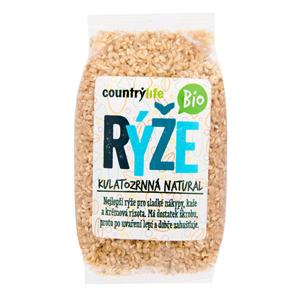 Country Life Rýže kulatozrnná natural BIO 0,5 kg