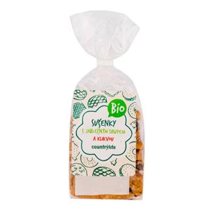 Country Life Sušenky s jablečným sirupem a klikvou BIO 175 g - SLEVA - KRÁTKÁ EXPIRACE 2.7.2020