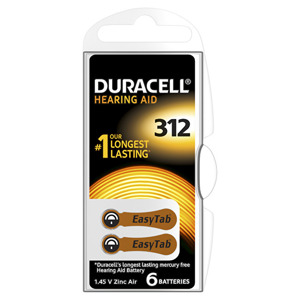 Duracell Naslouchátkové baterie Specialites Hearing Aid 312 6p