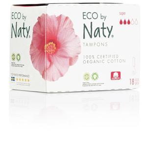 Eco Naty Dámské ECO tampóny Naty - super (18 ks)