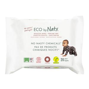 Eco Naty ECO vlhčené ubrousky Naty bez vůně - pro citlivou pokožku (20 ks)