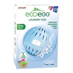 Ecoegg Vajíčko na praní 210 cyklů praní s vůní svěží bavlny - SLEVA - pomačkaná a potrhaná krabička