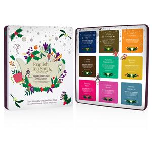 English Tea Shop Vánoční plechová kazeta bílá prémiová, 72 nál. sáčků - SLEVA - promáčknutá plechová krabička sady