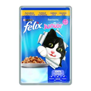 Felix Fantastic Junior s kuřetem v želé kapsička pro kočky 100 g