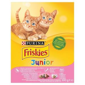 Friskies Junior granule pro kočky s kuřetem, se zeleninou a s mlékem 300 g