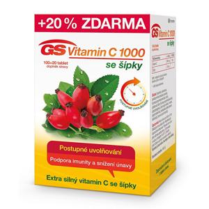 GreenSwan GS Vitamin C 1000 + šípky 100 tbl. + 20 tbl. ZDARMA - SLEVA - poškozená krabička