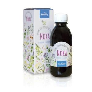 Herbally NORA bylinný sirup pro duševní pohodu s kozlíkem a plicníkem 200 ml