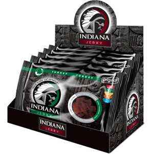 Indiana Indiana Jerky turkey (krůtí) Original 500 g - display