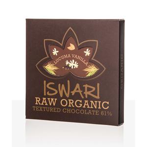 Iswari Raw čokoláda - Vanilla-Lucuma 75 g BIO