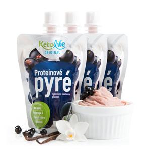 KetoLife Proteinové pyré - Rybízové s vanilkovou příchutí 3 ks