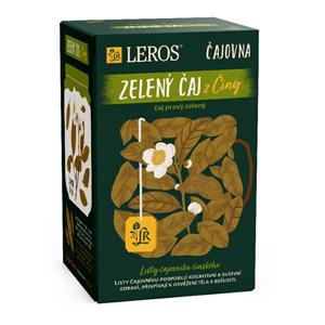 LEROS Čajovna Zelený čaj z Číny 20 x 2 g