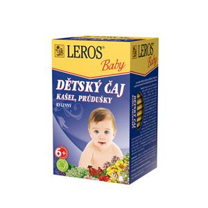 LEROS LEROS Baby Dětský čaj Kašel, průdušky 20 x 1.5 g