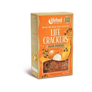 Lifefood Bio Life crackers Cibulové s dýňovým semínkem 90g