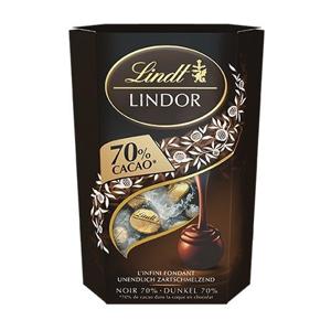 Lindt Lindor Extra hořká čokoláda 70% s jemnou krémovou náplní 200 g