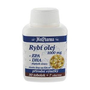 MedPharma Rybí olej 1000 mg + EPA + DHA 37 kapslí