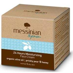 Messinian Spa Hydratační krém na obličej s 24 hodinovým účinkem opuncie & med 50 ml