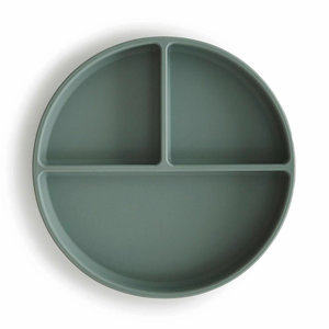 MUSHIE - silikonový talíř s přísavkou - CAMBRIDGE BLUE