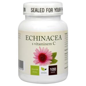 Natural Medicaments Echinacea s vitamínem C 100 tbl. - SLEVA - poškozená etiketa