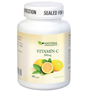 Natural Medicaments Vitamín C 500 mg 90 kapslí