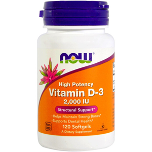 NOW Vitamin D-3 2000iu 120 tobolek