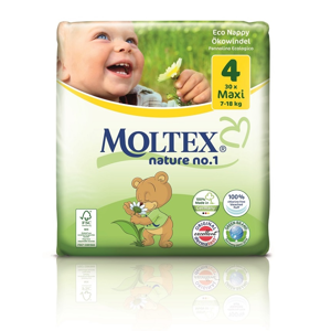 Ontex Group Plenky Moltex nature 4 Maxi ,7-18 kg (30 ks)