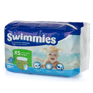 Ontex Group Swimmies XS 4-9kg ,13ks