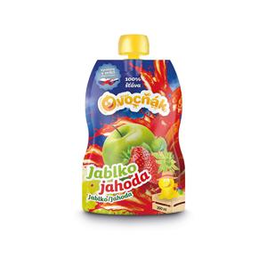 Ovocňák Ovocňák mošt jablko jahoda 200 ml - SLEVA - KRÁTKÁ EXPIRACE 14.1.2021