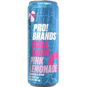 PRO!BRANDS – BCAA drink 330ml Pink Lemonade 330ml Pink Lemonade