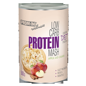 Prom-in Low carb protein mash 500 g Jablko/škořice