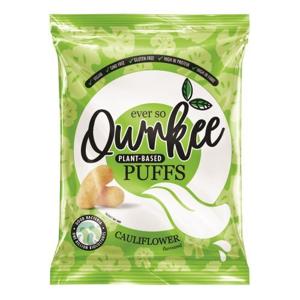 Qwrkee Vegan Probiotic Puffs - Křupky s obsahem probiotik a květáku 80 g