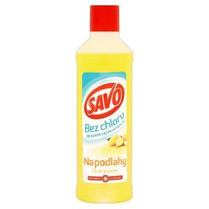 Savo Na podlahy citron a zázvor dezinfekční přípravek bez chloru 1000 ml