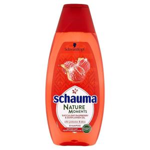 Schauma Nature Moments šťavnatá malina a slunečnicový olej šampon pro ochranu barvy a lesk 400 ml
