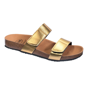 Scholl Zdravotní obuv - GREENY 2 STRAPS - Gold 39