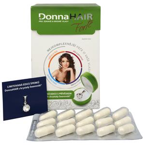 Simply You Donna Hair Forte 90 tob. + přívěšek Swarovski ZDARMA