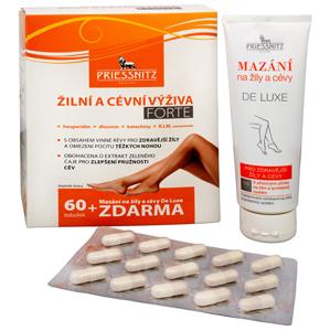 Simply You Priessnitz Žilní a cévní výživa Forte 60 tob. + Mazání na žíly a cévy De Luxe 125 ml ZDARMA - SLEVA - POŠKOZENÁ KRABIČKA