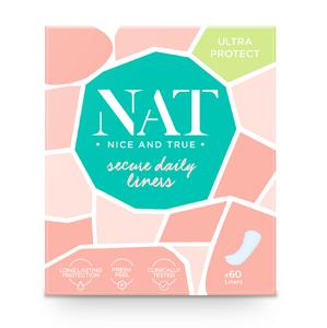 Slipové vložky NAT nice & true - secure daily Ultra protect (60 ks)