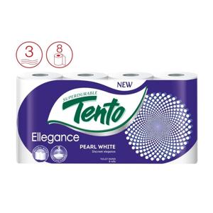 Tento Ellegance Pearl white, 3-vrstvý toaletní papír, 8 ks