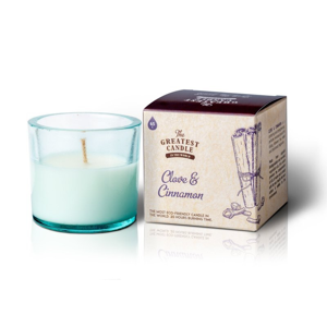 The Greatest Candle Vonná svíčka ve skle 75 g Hřebíček a skořice