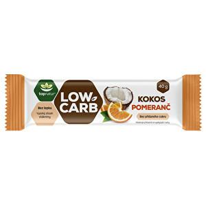 Topnatur LOW CARB tyčinka Kokos & Pomeranč 40 g