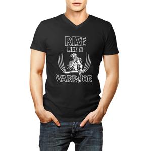 Tričko Rise like a Warrior černobílé XXL XXL