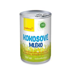 Wolfberry Kokosové mléko BIO 400 ml - SLEVA - promáčknutá plechovka