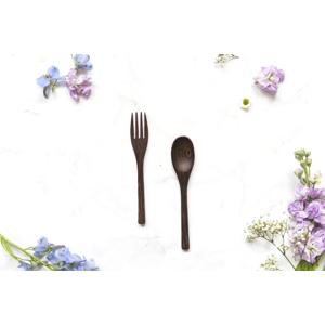 zKokosu Příbory z EBENOVÉHO DŘEVA Druh: Vidlička + Lžíce
