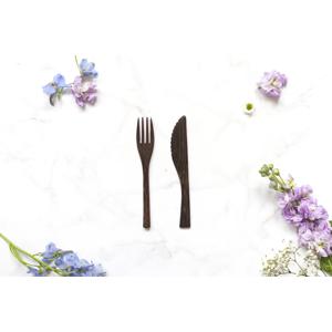 zKokosu Příbory z EBENOVÉHO DŘEVA Druh: Vidlička + Nůž