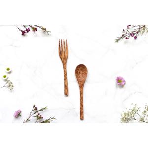 zKokosu Příbory z KOKOSOVÉHO DŘEVA Druh: Lžíce+Vidlička